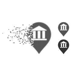 bank building pointer dissolving pixel icon vector image