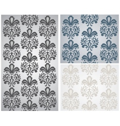 Baroque ornament pattern vector image