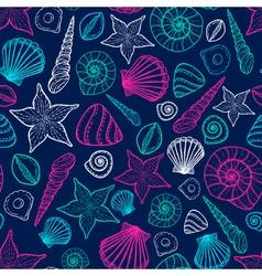 Beach Seashell Pattern seamless pattern with vector