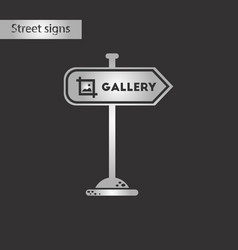 Black and white style icon sign gallery vector