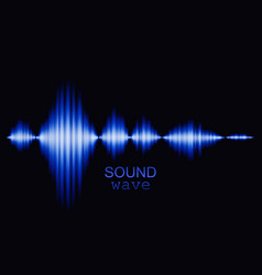 Blue sound wave background vector