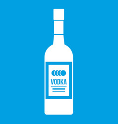 Bottle of vodka icon white vector