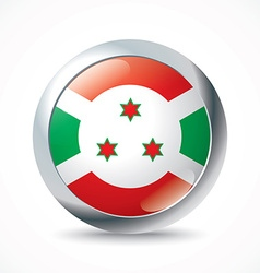 Burundi flag button vector image