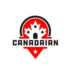 canada shield logo vector image