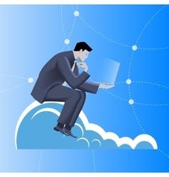 Cloud business concept vector