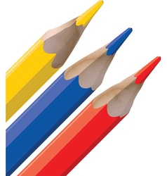 Color Pencil Tops vector image