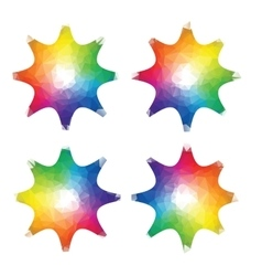 color stars spectrum in triangle style vector image