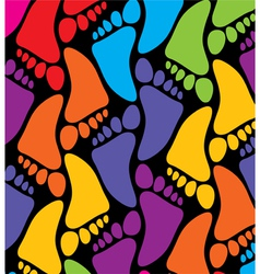 colorful feet vector image