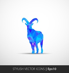 Colorful with silhouette goat vector