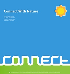 Connect with nature - design template for book or vector image