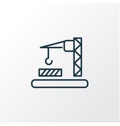 construction zone icon line symbol premium vector image