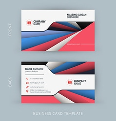 creative and clean business card template vector image