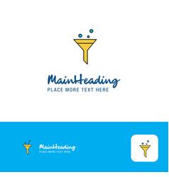 creative test tube logo design flat color logo vector image