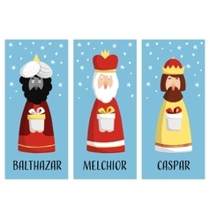 cute set christmas greeting cards gift tags vector image