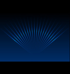 dark blue abstract glowing neon laser rays vector image