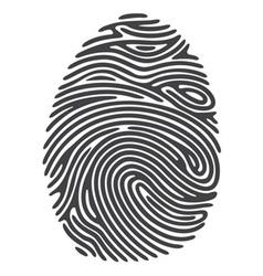 Dashed Line Fingerprint vector