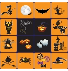 Design elements for halloween vector image