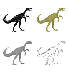 dinosaur gallimimus icon in cartoon style isolated vector image