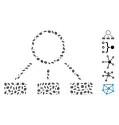 Ellipse mosaic hierarchy vector