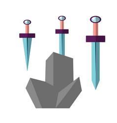 excalibur flat icon sword vector image