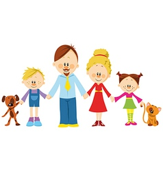 Family holding hands vector