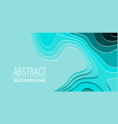 Geometric paper cut background topography map vector