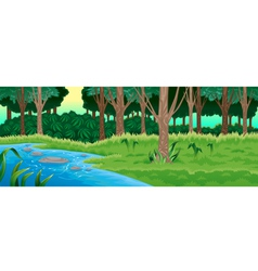 Green forest vector image
