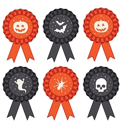 Halloween rosettes vector