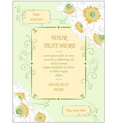 Hand drawn wedding greeting card vintage style vector