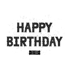 Happy birthday card with hand drawn lettering vector image
