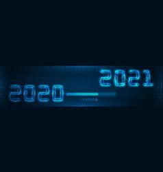 happy new year 2021 loading bar creative vector image
