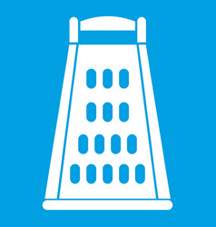 Kitchen grater icon white vector