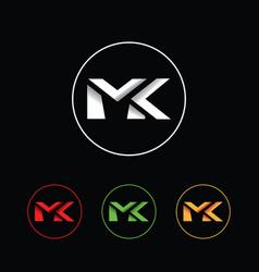 letters mk logo vector image