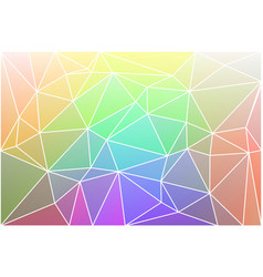 Light rainbow geometric background with mesh vector