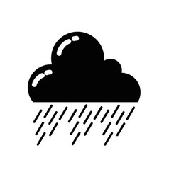 line natural cloud in the sky raining weather vector image