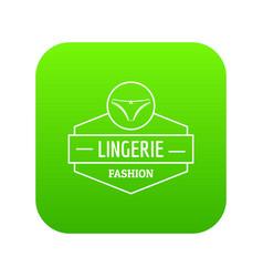 Lingerie female icon green vector