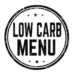 Low carb menu grunge rubber stamp vector