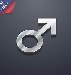 Male sex icon symbol 3D style Trendy modern design vector