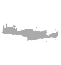 map of crete vector image