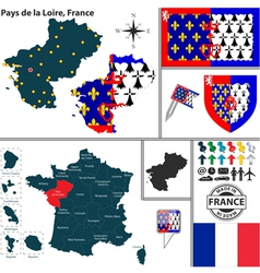 Map of Pays de la Loire vector image