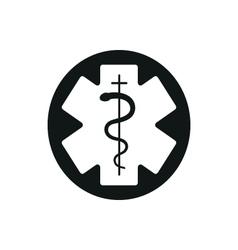 medical symbol emergency star life vector image
