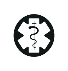 Medical symbol of the Emergency Star of Life vector image