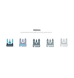 Medina icon in different style two colored and vector