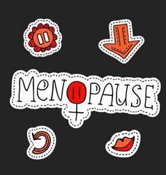 Menopause symbol doodle vector
