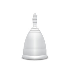 Menstrual cup feminine hygiene protection for vector