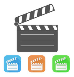 movie filming colored icons vector image
