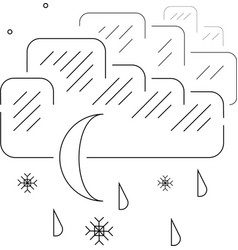 Night rain with snow vector