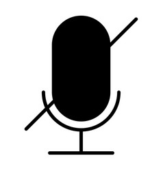 old microphone disabled silhouette icon pictogram vector image