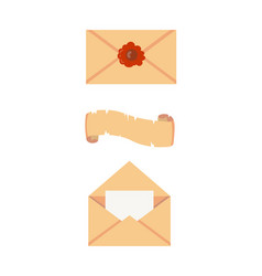 Old paper letter messege vector