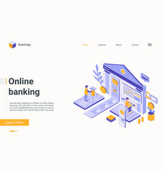 online banking financial technology isometric vector image